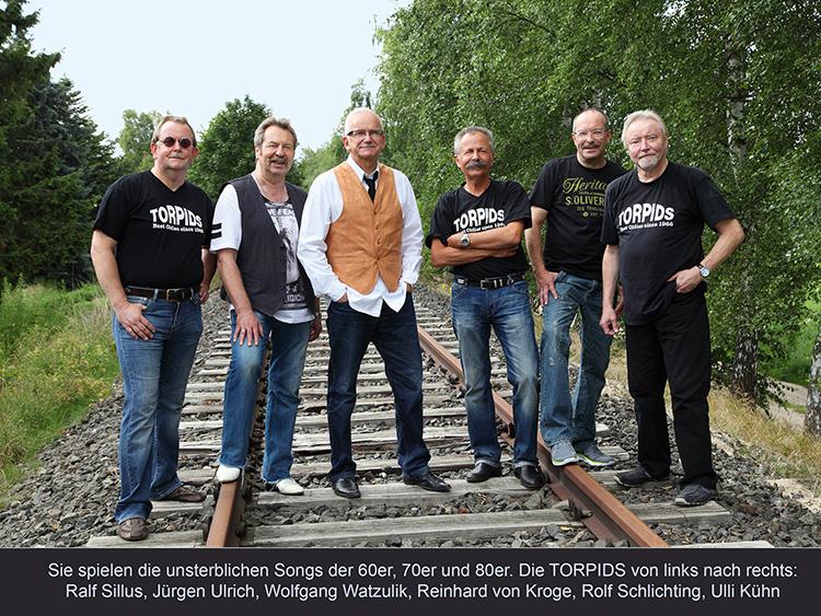The Torpids, Oldieband aus Stade, bekannt in Hamburg, Cuxhaven, Stade, Buxtehude, Großenwörden, Greven-Boitzenburg, Varel, Wingst, Winsen, Dollern, Harsefeld, Wenzendorf