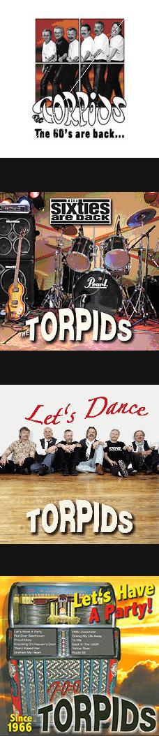 50 Jahre TORPIDS - Let´s have a Party!  mit Songs aus den 60er-Jahren und beliebten Hits aus den 70er- und 80er-Jahren, unsere CDs